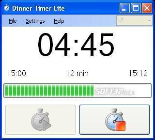DinnerTimer Lite Screenshot 2