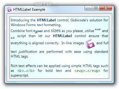 HTMLLabel for Windows Forms Screenshot 2