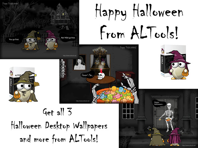 ALTools Haunted House Halloween Desktops Screenshot 3