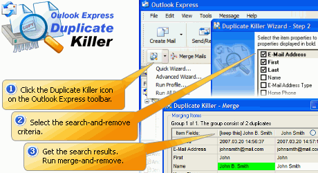 Outlook Express Duplicate Killer Screenshot 1