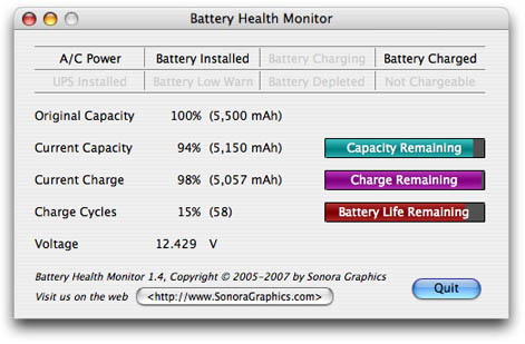 Battery Health Monitor Screenshot
