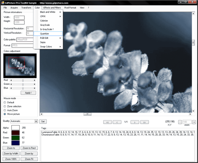 GdPicture Light Imaging Toolkit Screenshot