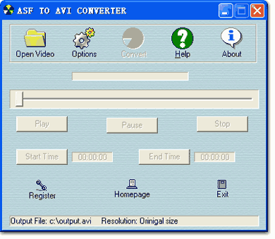 ASF to AVI Converter Screenshot