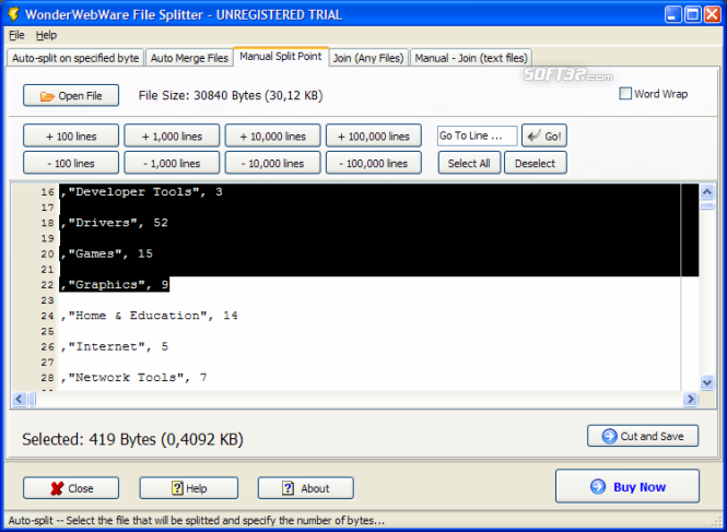 File Splitter PRO Screenshot 2