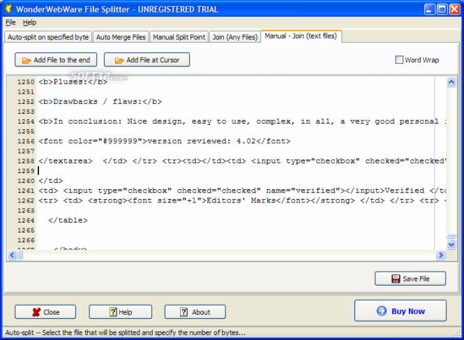 File Splitter PRO Screenshot 4