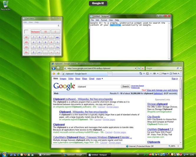 Google It! Screenshot
