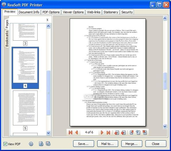 ReaSoft PDF Printer Lite Screenshot 3