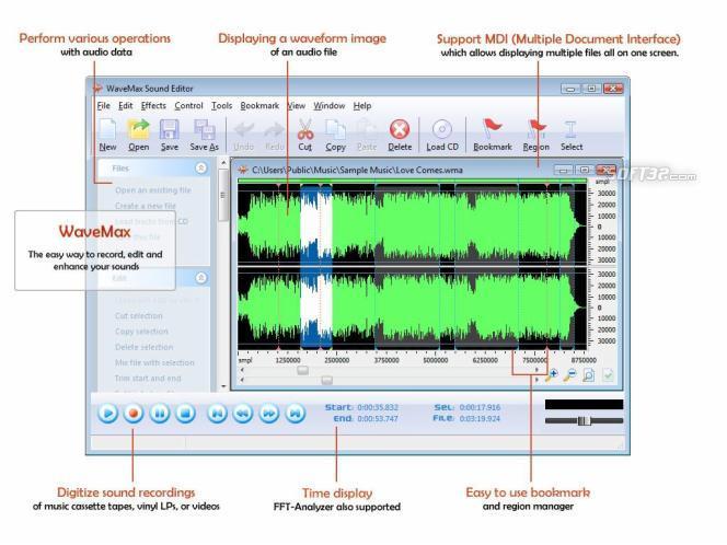 WaveMax Sound Editor 2009 Screenshot 3