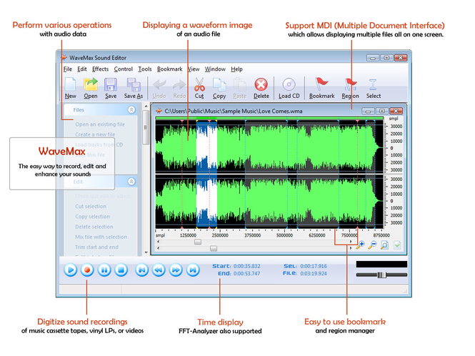 WaveMax Sound Editor 2009 Screenshot