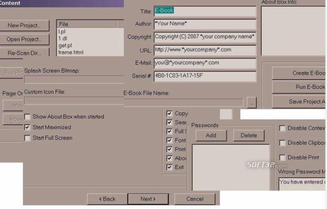 EbookCreatorPro Screenshot 1