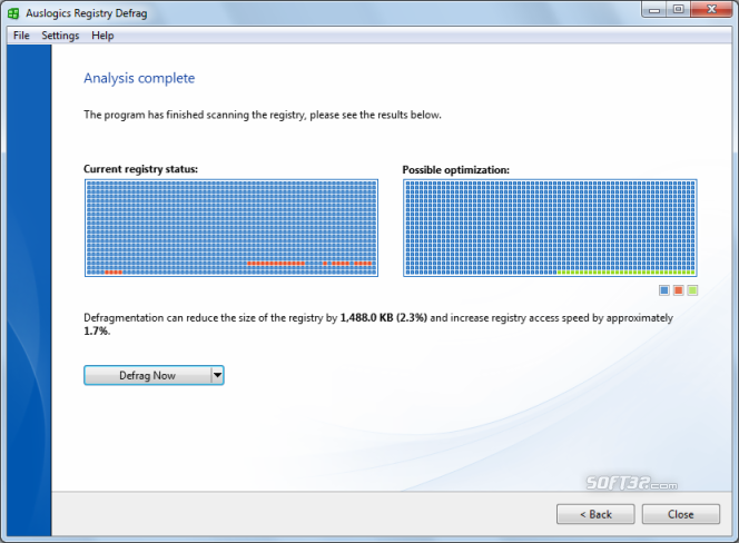 Auslogics Registry Defrag Screenshot 2
