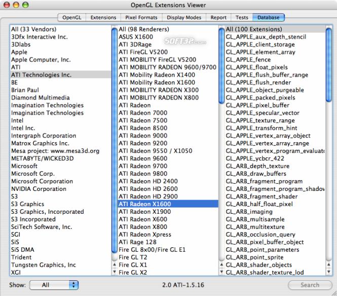 OpenGL Extensions Viewer Screenshot 11