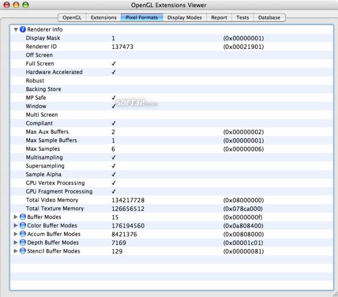 OpenGL Extensions Viewer Screenshot 3