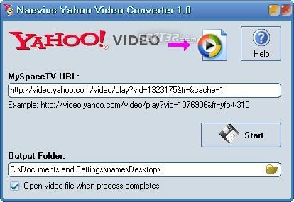 Naevius Yahoo Video Converter Screenshot 2