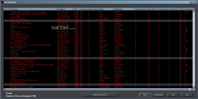 ServerBrowse Screenshot 2