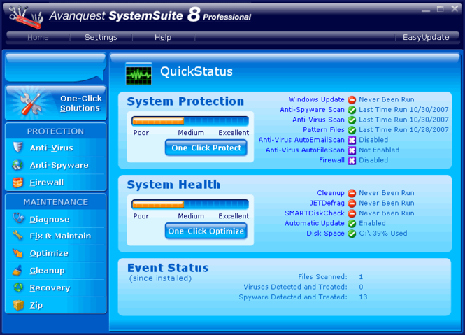 System Suite 8 Professional - Download Screenshot