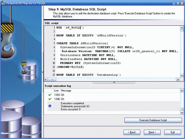 FlySpeed DB Migrate to MySQL Screenshot 1