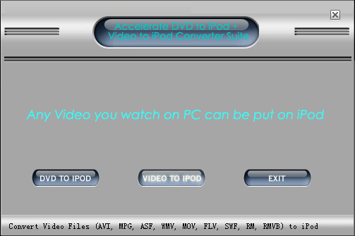 Acc-Soft iPod Converter Suite Screenshot
