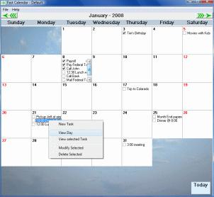 Fast Calendar Screenshot