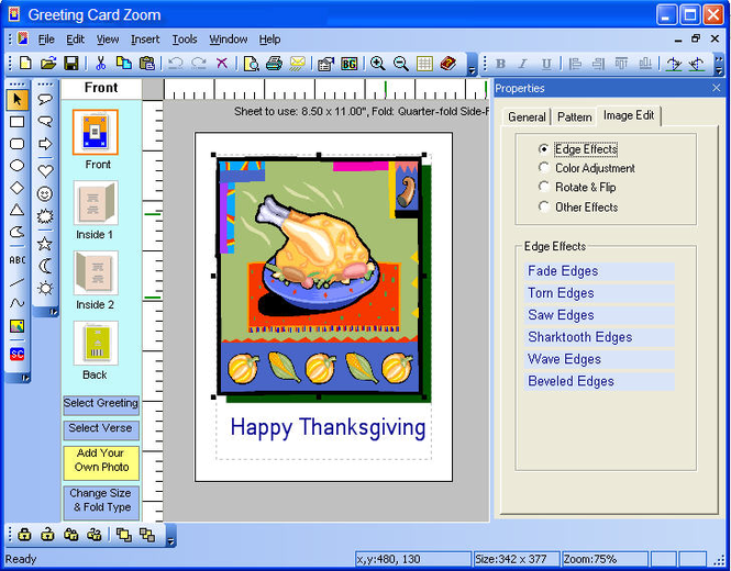 Greeting Card Zoom Screenshot