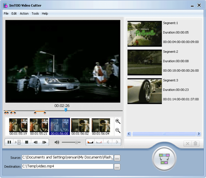 ImTOO Video Cutter Screenshot 2