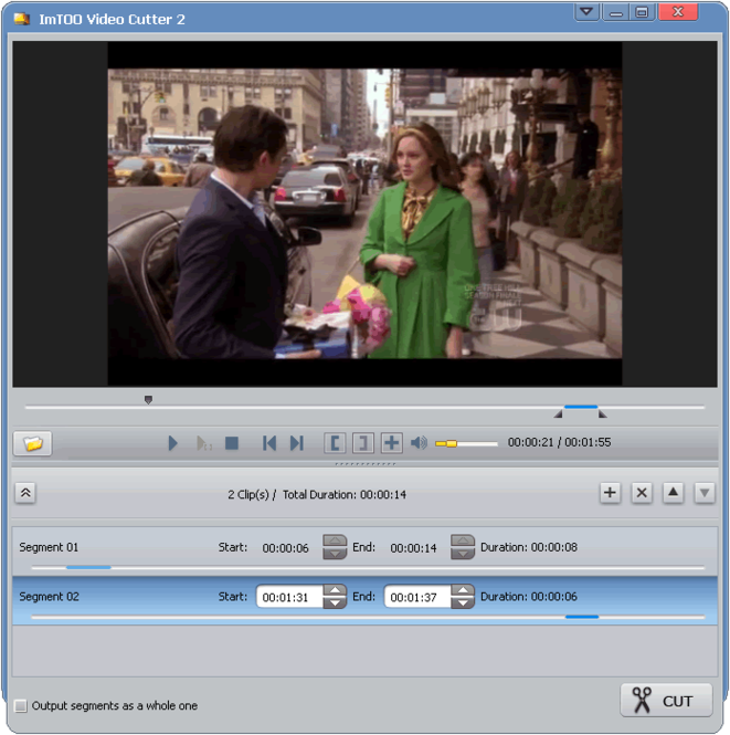 ImTOO Video Cutter Screenshot