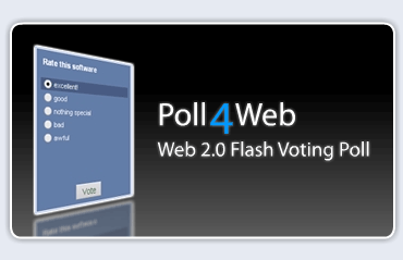 Poll4Web: Web 2.0 Flash Voting Poll Screenshot