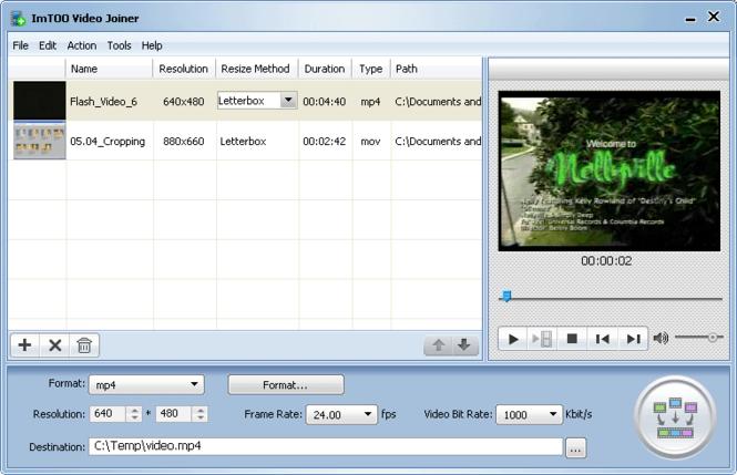 ImTOO Video Joiner Screenshot 3