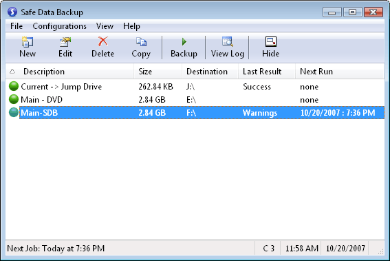 Safe Data Backup Screenshot 3