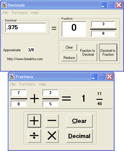 Breaktru Fractions n Decimals Screenshot