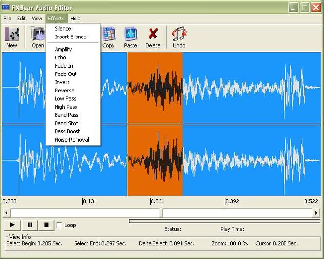 FXBear Audio Editor Screenshot 1