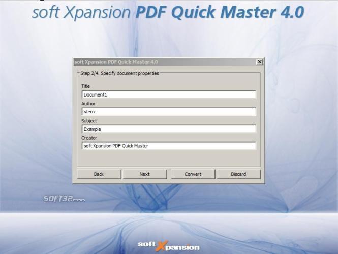 PDF/A Quick Master Screenshot 2