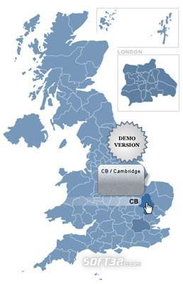 Postcode Map of UK Screenshot 2