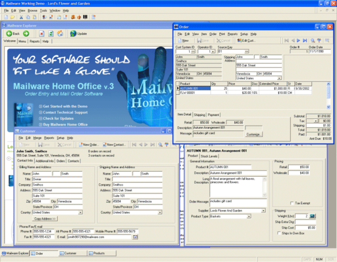 Mailware Home Office Screenshot