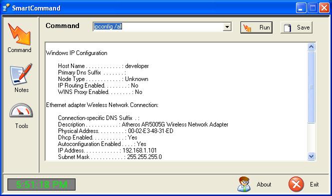 SmartCommand Screenshot