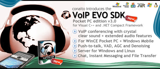 VoIP EVO SDK for Pocket PC and Windows Mobile Screenshot 1