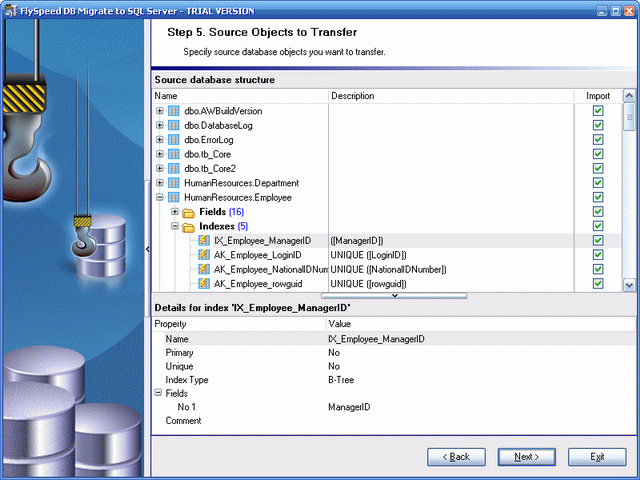 FlySpeed DB Migrate to SQL Server Screenshot 1
