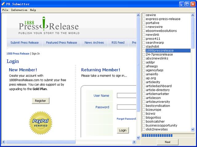 PR Submitter Screenshot 1