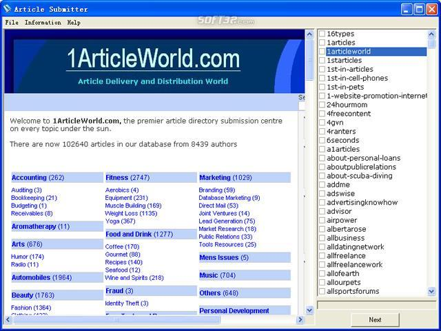 Article Submitter Screenshot 3