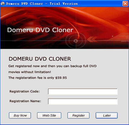 Domeru DVD Cloner Screenshot