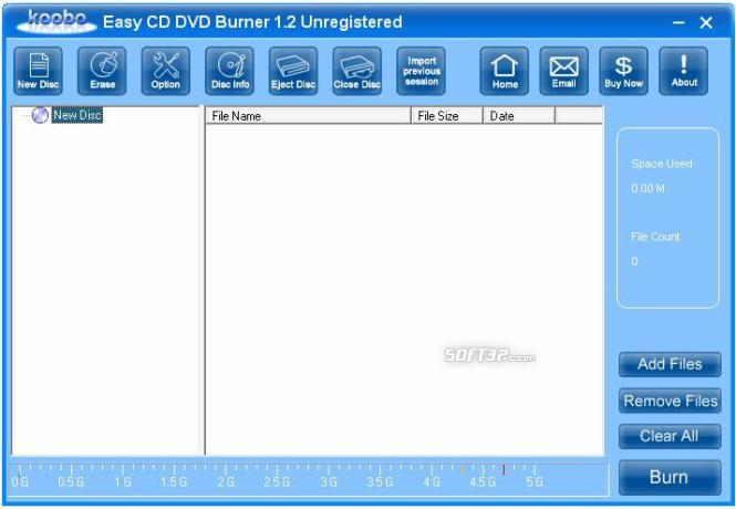 Koobo Easy CD DVD Burner Screenshot
