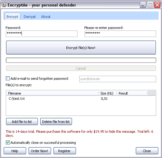 EncryptMe Screenshot