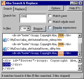 Aba Search and Replace Screenshot 4