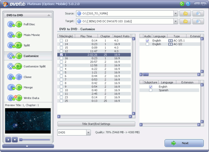 DVDFab Platinum Screenshot 1