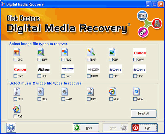 Digital Media Recovery Software Screenshot 2