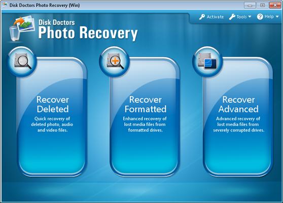 Digital Media Recovery Software Screenshot
