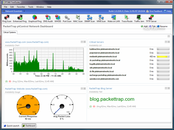 Free PacketTrap pt360 ToolSuite Screenshot 2