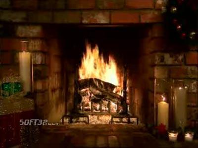 Living Fireplace Video Screensaver Screenshot 2