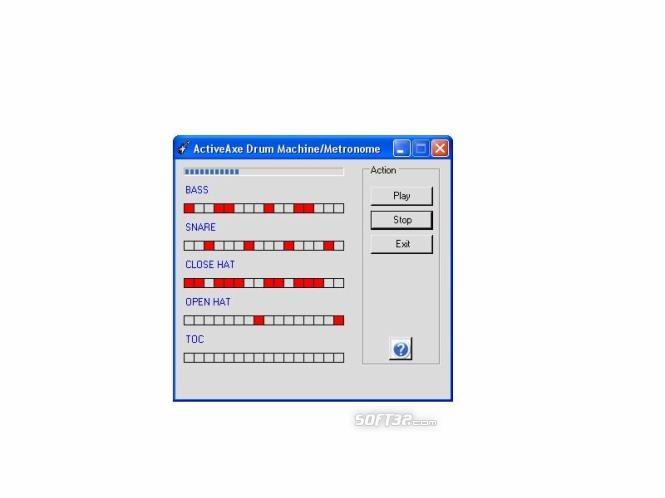 ActiveAxe Drum Machine Screenshot