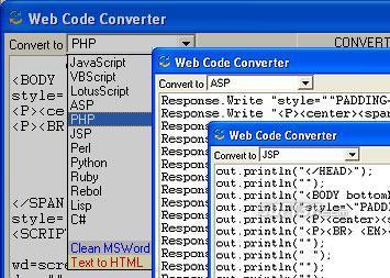 Web Code Converter Screenshot 2